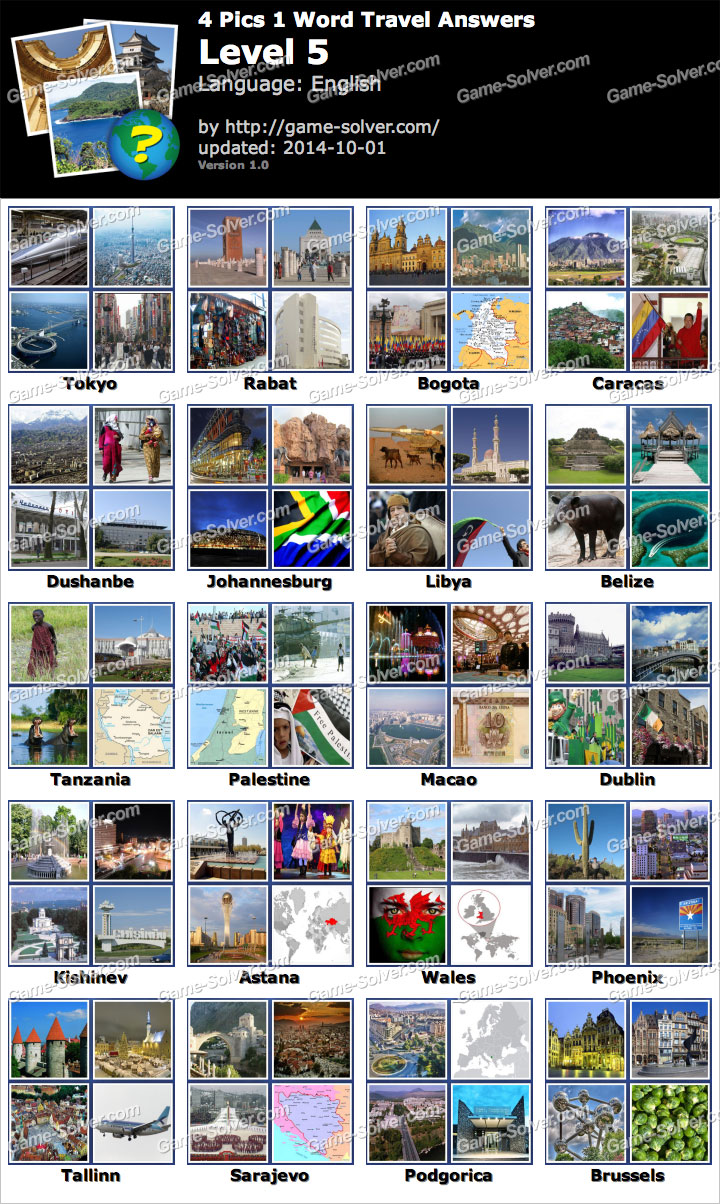 4 pics 1 word travel level 5 game solver