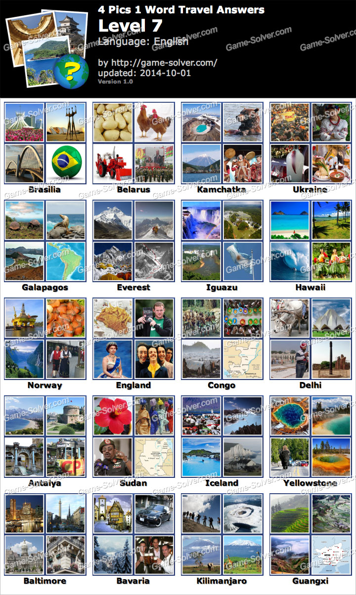 4 pics 1 word travel level 7 game solver 4 pics 1 word travel level 7 expocarfo