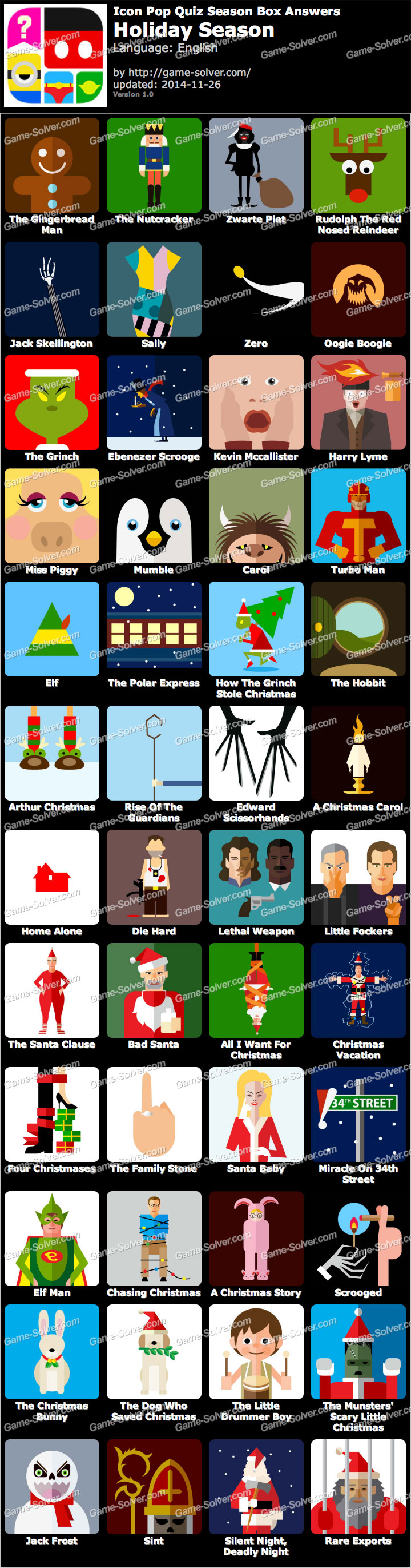 Holiday Season Icons Icon Pop Quiz Season Box