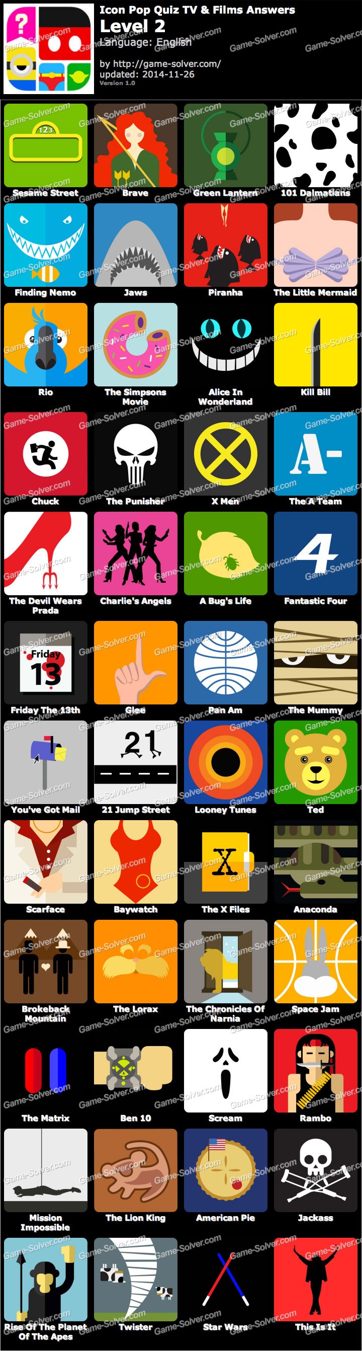 icon pop quiz tv and films level 2 game solver