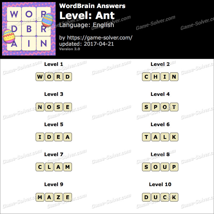 wordbrain answers - game solver