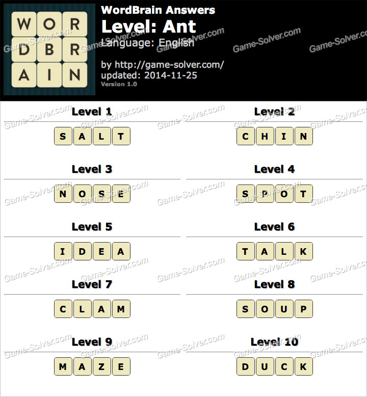 Elephant 4 Wordbrain WordBrain Ant Answers