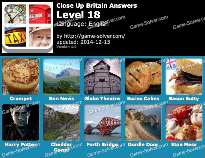 Close Up Britain Level 18 Game Solver