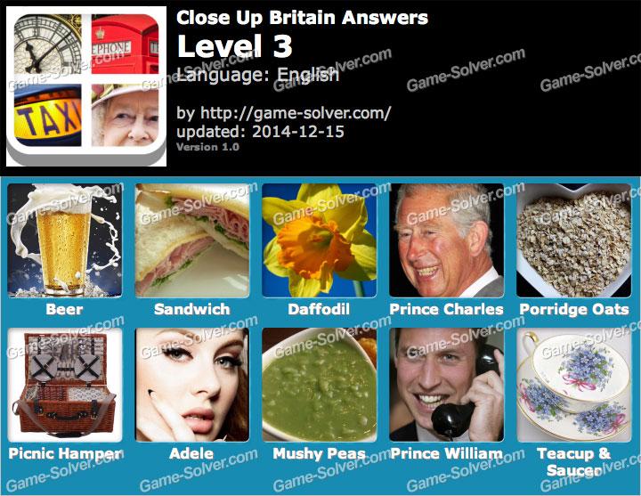 Close Up Britain Level 3 Game Solver