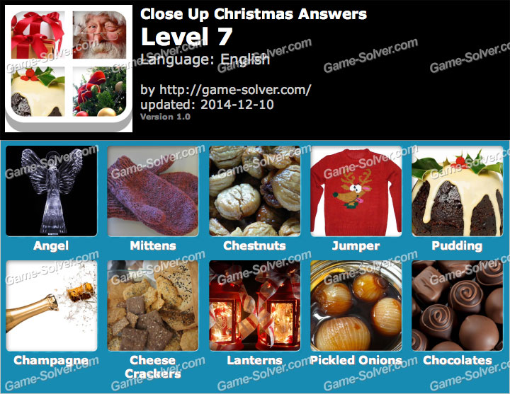 Close Up Christmas Level 7 - Game Solver
