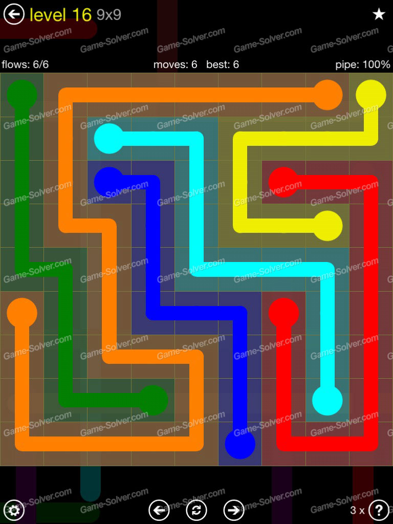 Flow Extreme Pack Set 12x12 Level 3: Flow Extreme Pack 2 9×9 Level 16