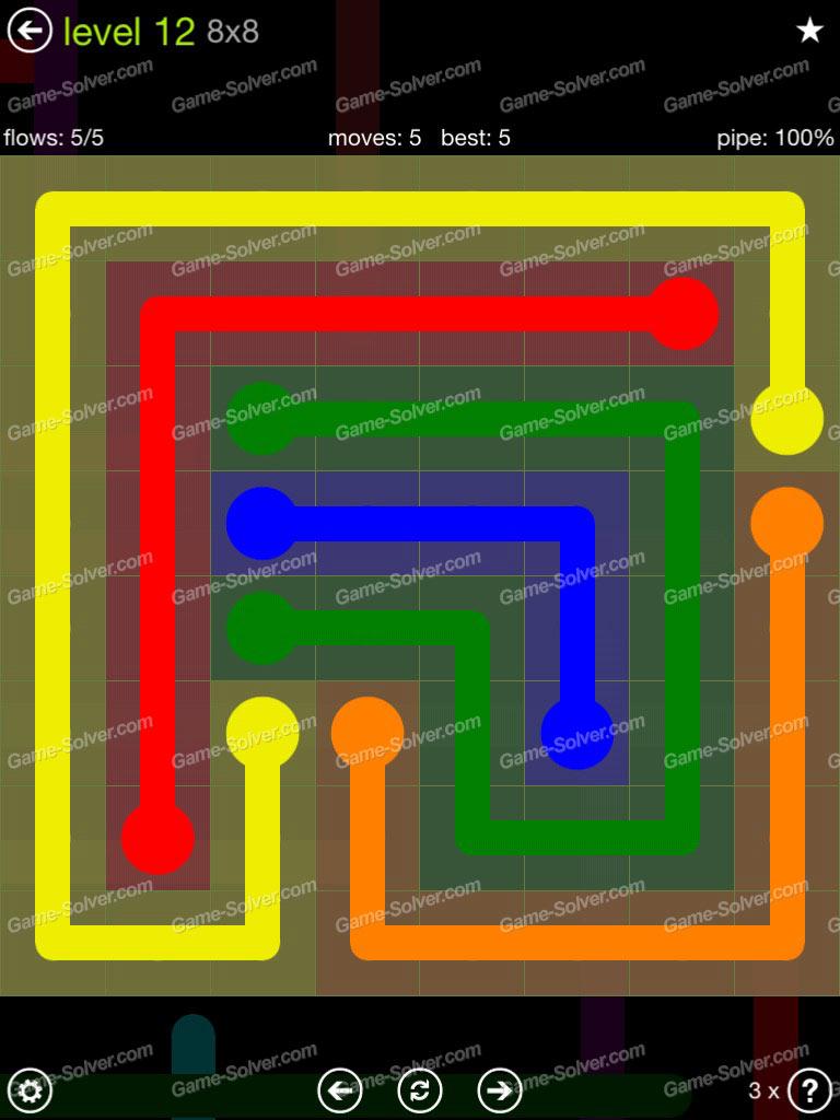 flow extreme pack 8 8 level 12 game solver. Black Bedroom Furniture Sets. Home Design Ideas