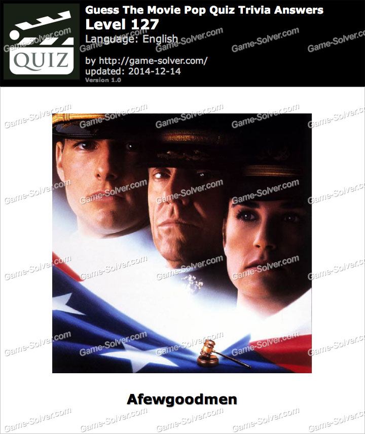 guess the movie pop quiz trivia level 127