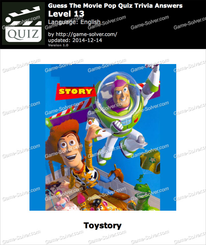 Answers to Guess the Movie Quiz