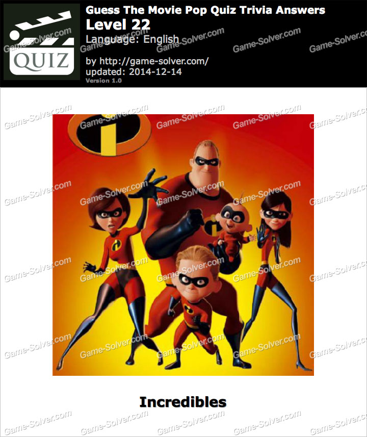 Cartoon Quiz Answers - Game Solver