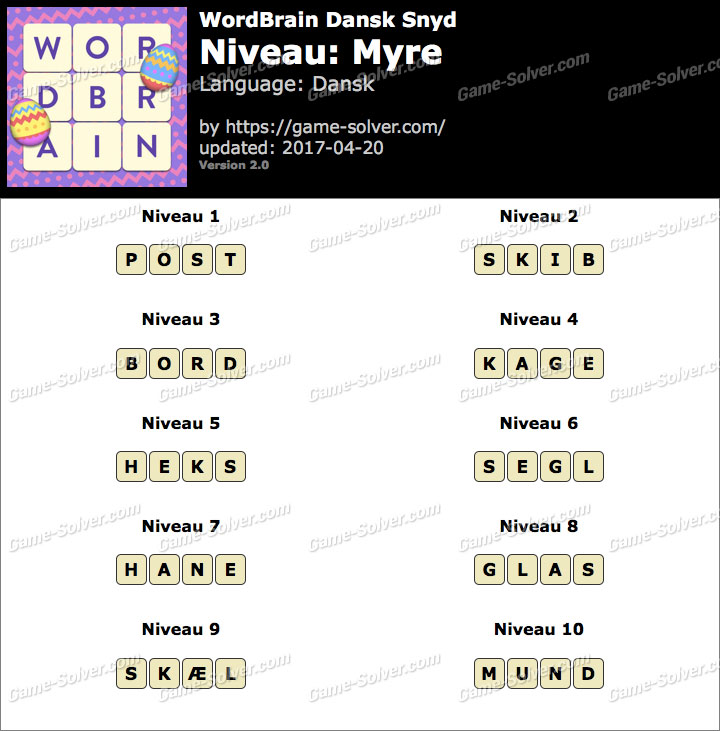 WordBrain Myre Snyd