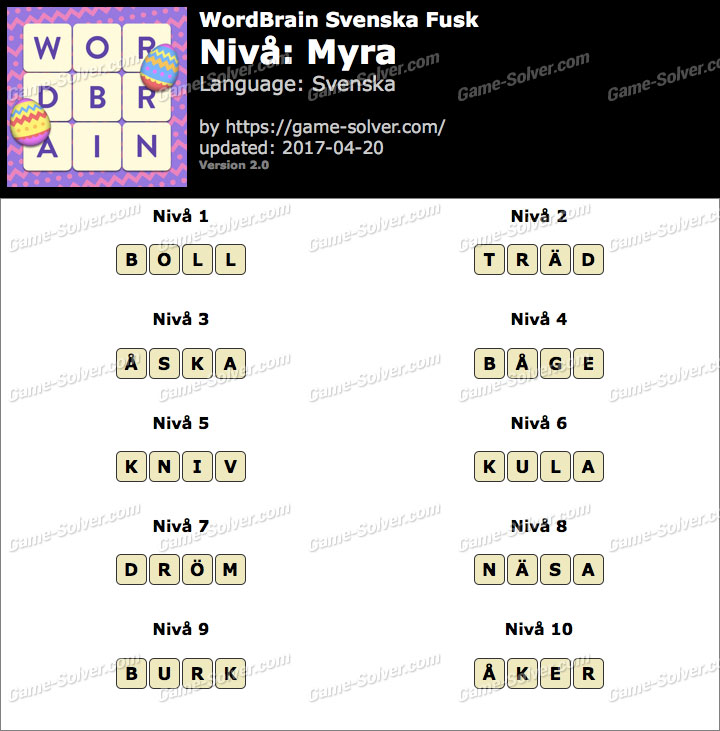 WordBrain Myra Fusk