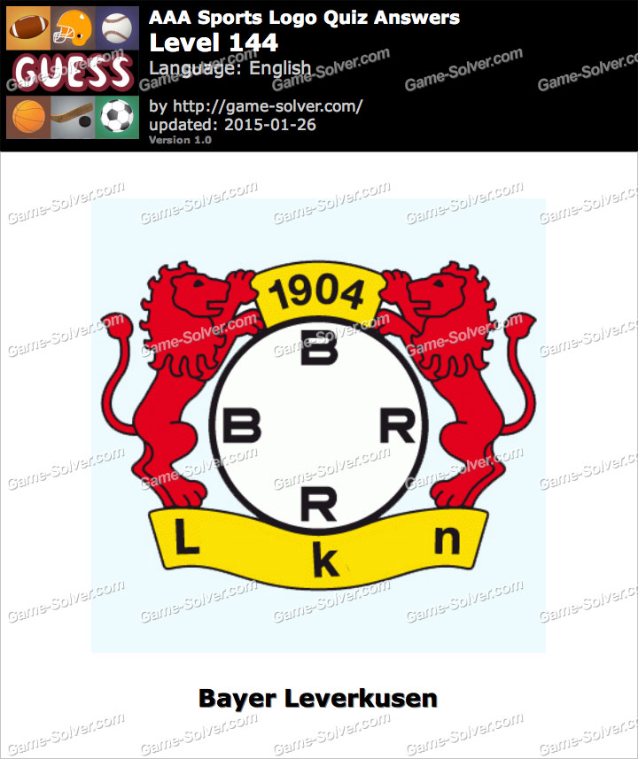aaa sports logo quiz level 144 game solver