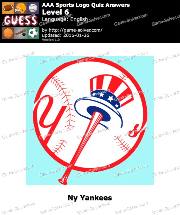 aaa sports logo quiz level 6 game solver