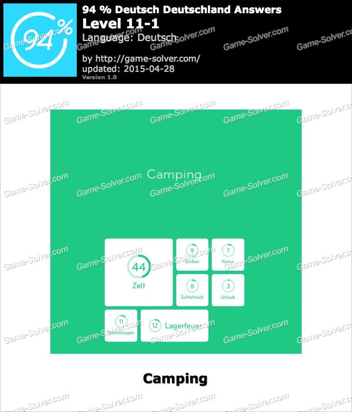94 deutsch deutschland level 11 1 game solver for Living room 94 answers