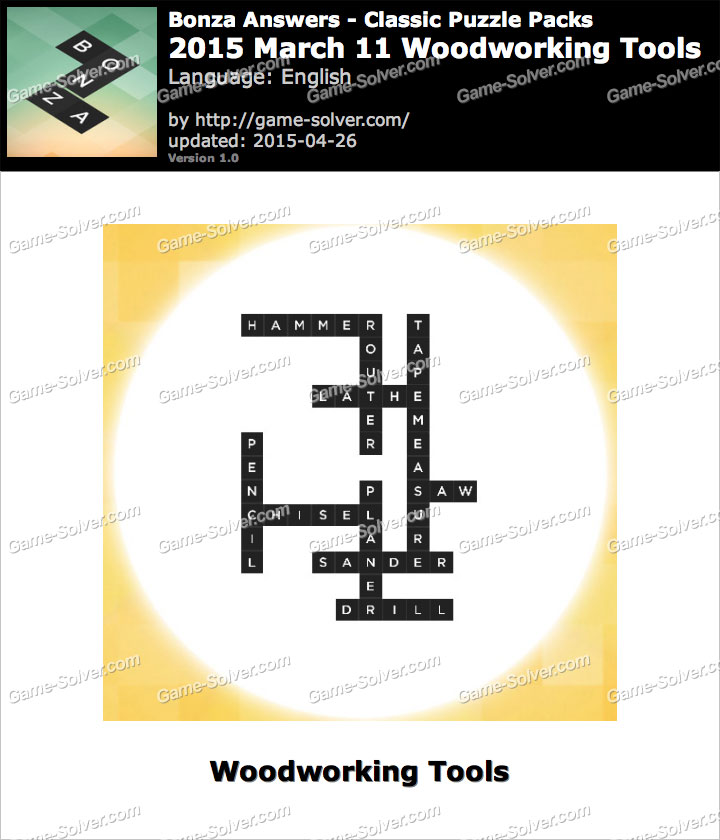 Book Of Woodworking Tools List Crossword In Australia By ...