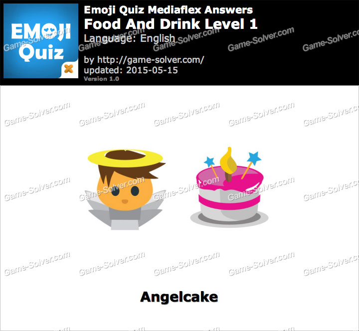 Emoji Quiz Food And Drink Level 1 - Game Solver