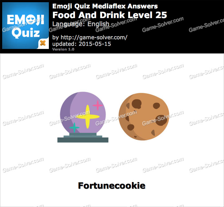 Food And Drink Emoji Game Level