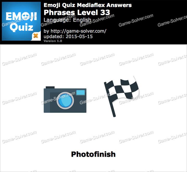 Emoji Quiz Phrases Level 33 - Game Solver