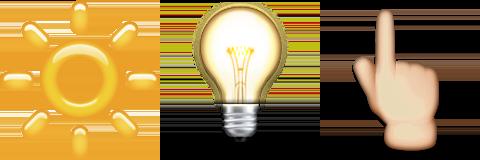 Guess Up Emoji Bright Idea