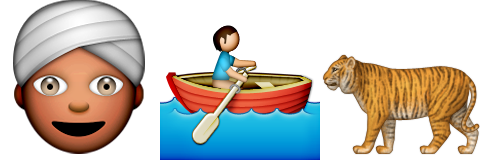Guess up emoji life of pi game solver for Life of pi characterization