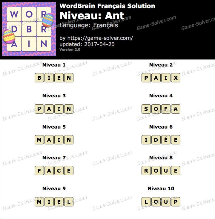 WordBrain Français Ant