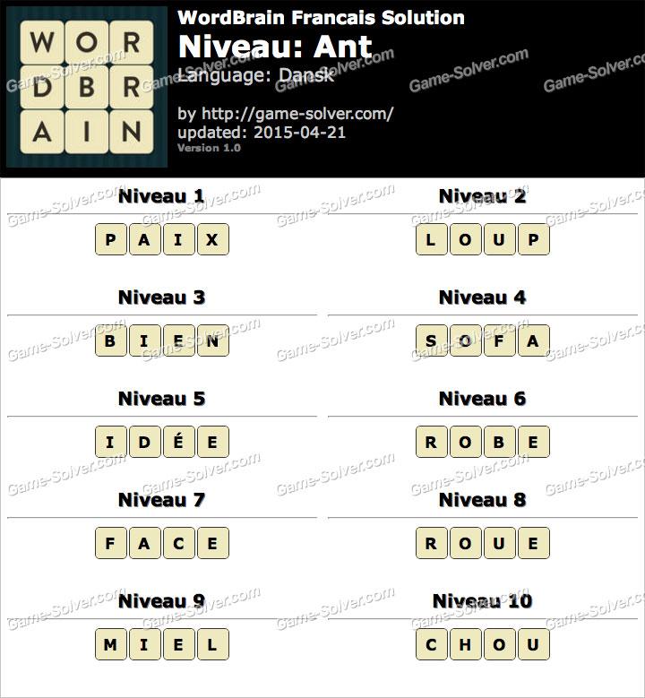 Wordbrain Francais Sol...