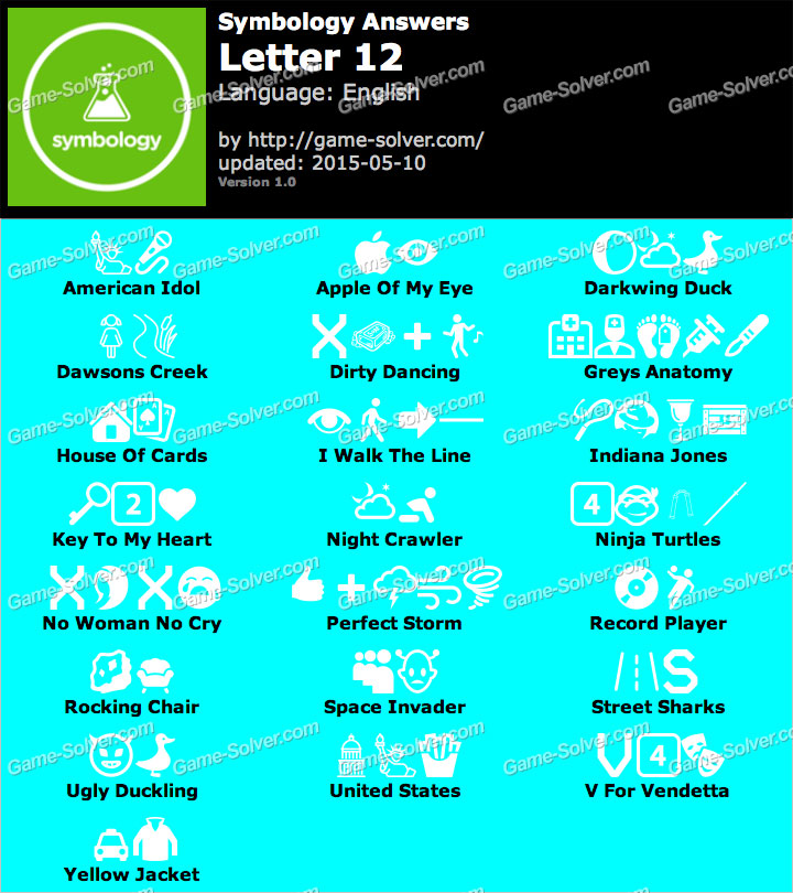 Symbology Answers with 12 Letters