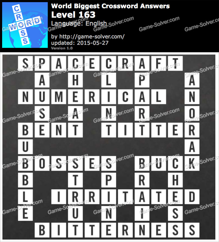 Worlds Biggest Crossword Level 163