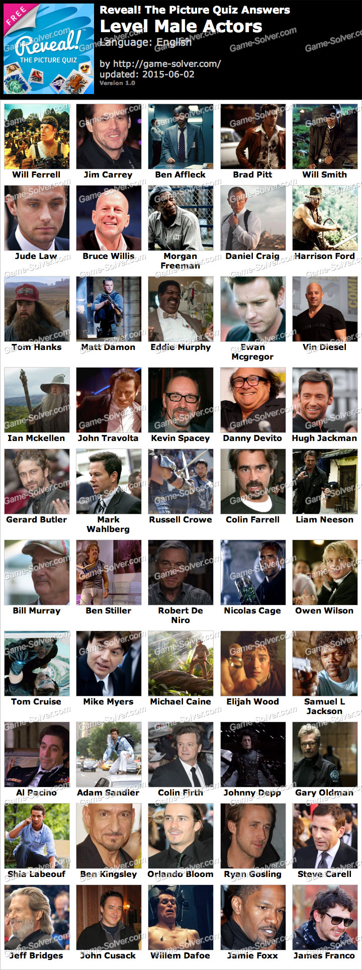 Pics Answers Movie Stars Level