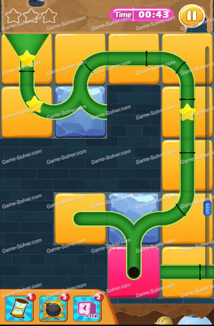 plumber mole level 23 - game solver
