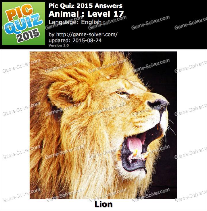 Pic Quiz 2015 Animal Level 17 - Game Solver