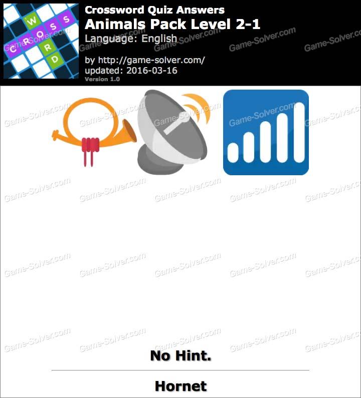 Crossword Quiz Puzzle Animals Pack Level 2 1