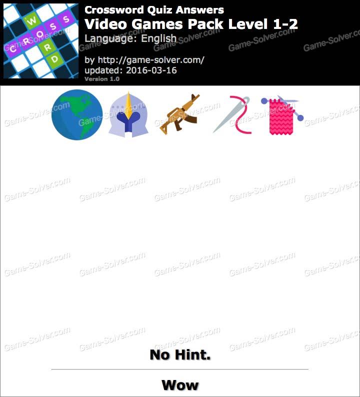 Crossword Quiz Crossword Puzzle Video-Games Pack Level 2-8 ...