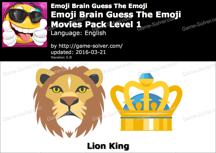 Emoji Brain Guess The Emoji Movies Pack Level 1 Answers