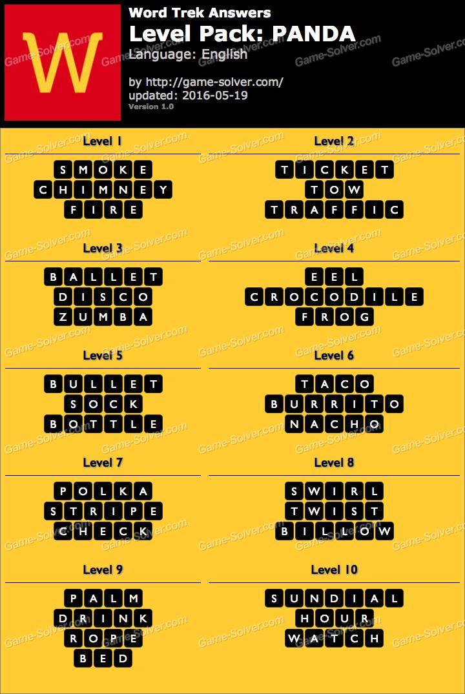 word trek level pack 28 panda answers game solver
