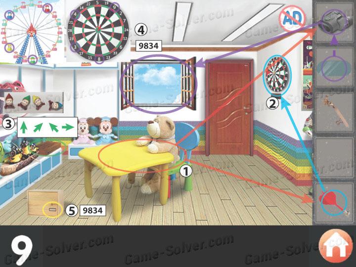 Escape room apartment 10 level 9 game solver for Small room escape 9 walkthrough