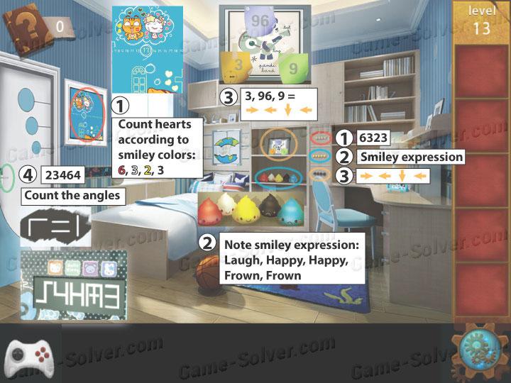 Escape room apartment 9 level 13 game solver for Small room escape 9 walkthrough