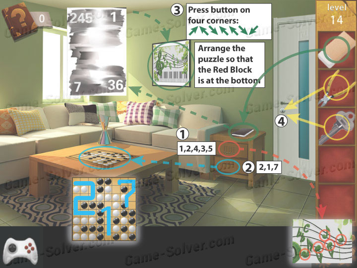Escape room apartment 9 level 14 game solver for Small room escape 9 walkthrough