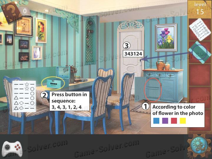 Escape room apartment 9 level 15 game solver for Small room escape 9 walkthrough