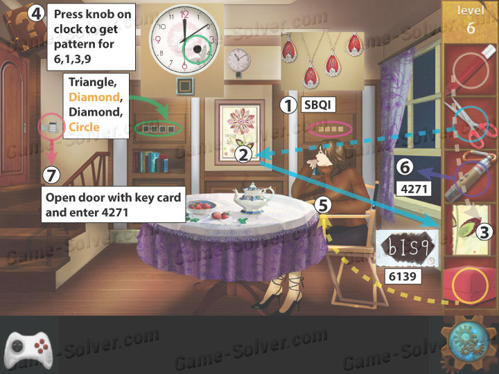 Escape room apartment 9 level 6 game solver for Small room escape 6 walkthrough