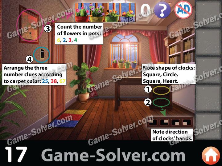 Apartment Room Count escape room: apartment 8 level 17 - game solver