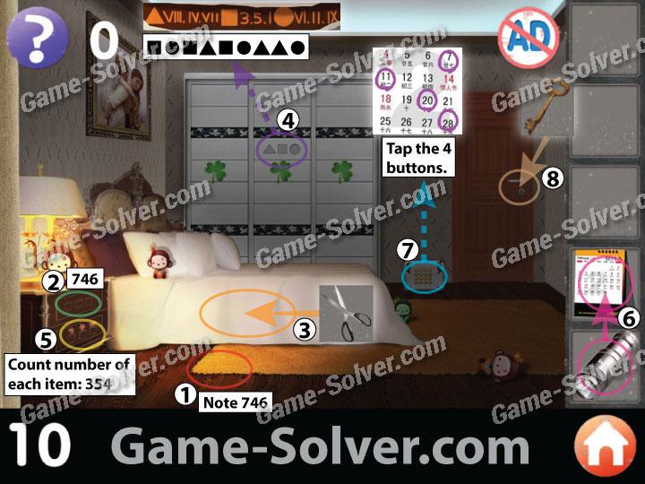 Apartment Room Count room escape: apartment 6 level 10 - game solver