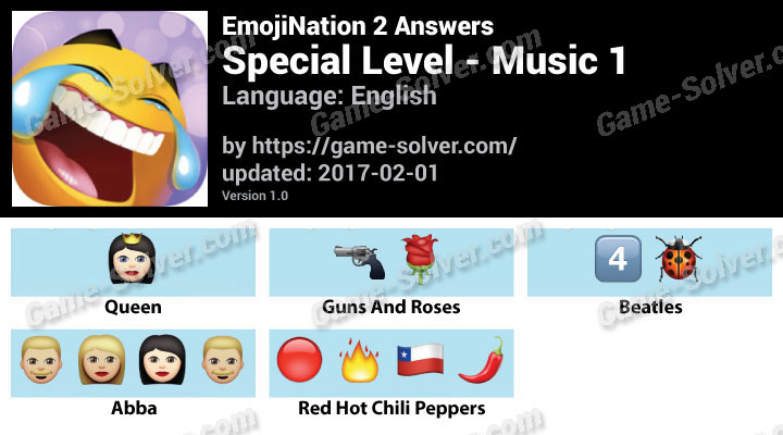 EmojiNation 2 Special Level Emoji Music 1 Answers - Game Solver