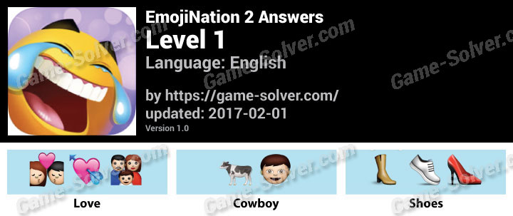 EmojiNation 2 Level 1 Answers