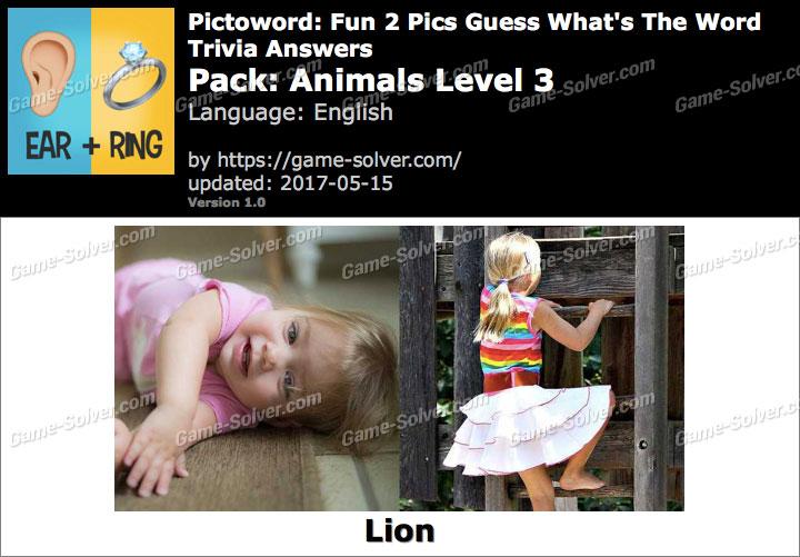 Pictoword Fun 2 Pics Animals Level 26 Answers