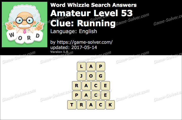 Word Whizzle Search Amateur Level 53 Answers