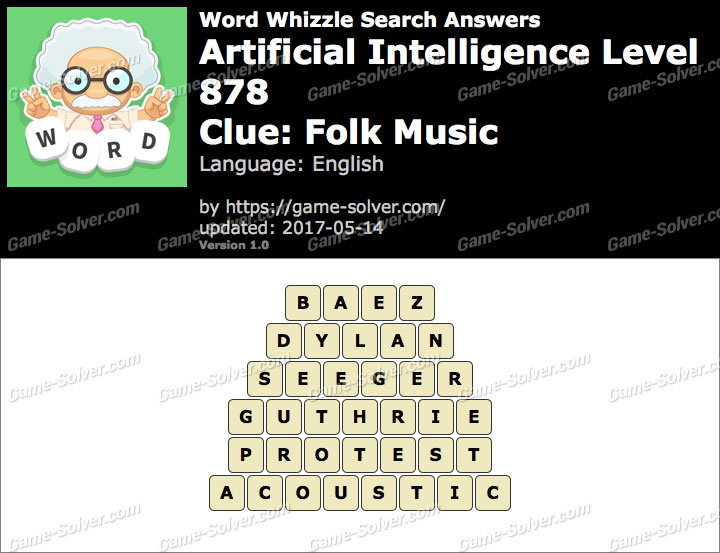 Word Whizzle Search Artificial Intelligence Level 878 Answers Game