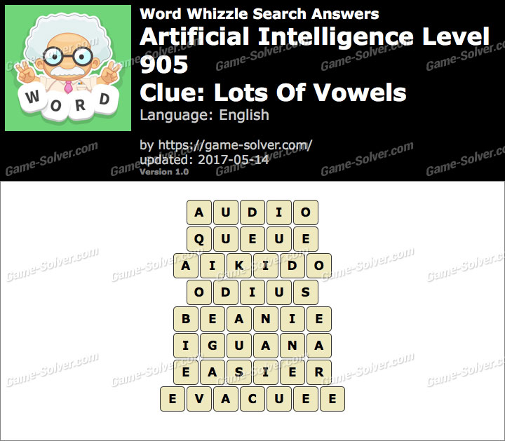 Word Whizzle Search Artificial Intelligence Level 905 Answers Game