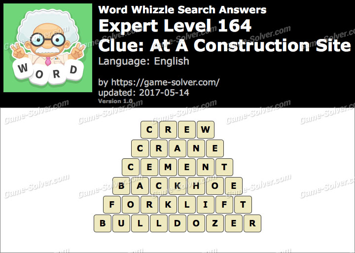 Word Whizzle Search Expert Level 164 Answers